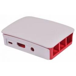 Caja RASPBERRY Oficial Pi 3 Rojo/Blanco (9098132)