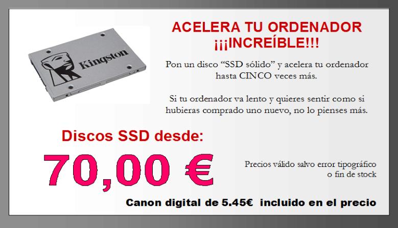 Disco SSD Solido Santa Ursula Tenerife